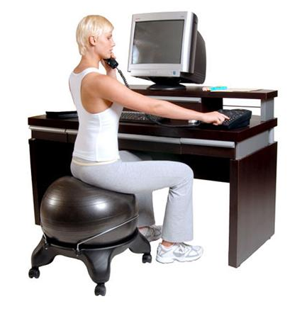 after only a few days of using a ball chair youu0027ll start to see an improvement in your posture the spherical design of this product requires the sitter to - Gaiam Ball Chair