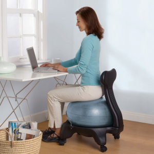 Yoga Ball Chairs Fitness in the fice woman with good posture